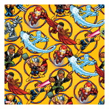 Marvel Super Hero Squad: Nick Fury, Thor, Iron Man, Iceman, Cyclops, and Falcon Posing Prints