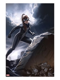 Spider-Girl 3 Cover: Spider-Girl Standing by a Tombstone Posters par Stefano Caselli