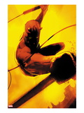 Daredevil: Reborn No.2 Cover: Daredevil Jumping Print by  Jock