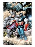 Marvel Adventrues Super Heroes No.5: Captain America and Rhino Holding the Shield Posters by Chris Cross