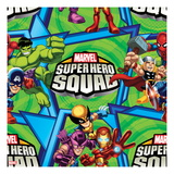 Marvel Super Hero Squad: Hulk, Thor, Spider-Man, Wolverine, Iron Man, Captain America, and Hawkeye Prints