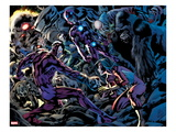Avengers No.12.1: Klaw and Spider Woman Fighting Prints by Bryan Hitch