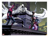 Moon Knight 2: Spider-Man, Moon Knight, Wolverine, and Captain America Art by Alex Maleev