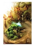Incredible Hulks 620 Cover: Hulk Fighting Posters by Carlo Pagulayan
