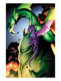Avengers vs. Pet Avengers No.2: Fin Fang Foom and Lockheed Flying Posters by Ig Guara