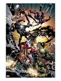 New Avengers No.22: Skaar Fighting Prints by Mike Deodato Jr.