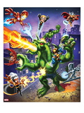 Marvel Super Hero Squad: Iron Man, Thor, Falcon, Fin Fang Foom, Wolverine, Storm, and Silver Surfer Prints