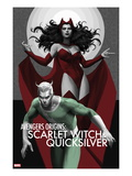 Avengers Origins: The Scarlet Witch & Quicksilver No.1 Cover Poster by Marko Djurdjevic
