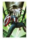 Captain America: Hail Hydra No.1 Cover: Captain America Posing with a Shield Prints by Adi Granov