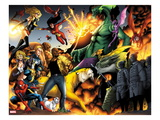 Avengers vs. Pet Avengers 3: Spider-Man, Wolverine, Ms. Marvel, Fin Fang Foom, and Lockheed Posing Prints by Ig Guara