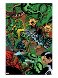 Avengers Academy 10 Cover: Dr. Strange, Protector, Reptil, Hazmat, Finesse, Striker, and Mettle Posters by Mike McKone