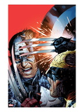Avengers vs X-Men 3 Cover: Captain America Fighting Wolverine Prints by Jim Cheung