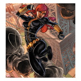 Fear Itself: Black Widow No.1 Cover: Black Widow Jumping Affischer av Michael Ryan