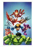 Marvel Super Hero Squad: Iron Man, Falcon, Thor, Silver Surfer, Wolverine, Reptil, Hawkeye and Hulk Posters