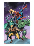 Avengers & The Infinity Gauntlet 3 Cover: Wolverine, Dr. Doom, Hulk, Spider-Man, and Ms. Marvel Prints by Tom Grummett