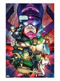 Chaos War No.2 Cover: Amadeus Cho, Hercules, Thor, Silver Surfer, Galactus, Venus, and Sersi Prints by Brandon Peterson