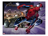 Ultimate Spider-Man 157: Spider-Man Swinging Prints by Mark Bagley