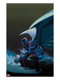 Uncanny X-Force 10 Cover: Archangel Crouching Print by Esad Ribic