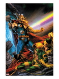 Thor: First Thunder No.5 Cover: Thor Screaming as Loki is on the Ground Posters par Jay Anacleto