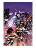 Astonishing X-Men 48 Cover: Karma, Wolverine, Iceman, Northstar, Gambit, and Warbird Prints by Dustin Weaver