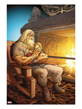 The Mighty Thor 7: Odin Sitting with Thor in his Arms Affiches par Pasqual Ferry