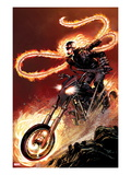 Ghost Rider No.1: Ghost Rider Flaming and Riding a Motorcycle Posters by Matthew Clark