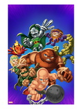 Marvel Super Hero Squad: Dr. Doom, Dormammu, Enchantress, Juggernaut, Mole Man, and Absorbing Man Prints