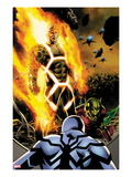 Fantastic Four No.600 Cover: Human Torch and Annihilus Prints by Steve Epting