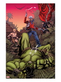 Skaar: King of The Savage Land No.3 Cover: Skaar, Ka-Zar, Moon Boy Prints by Chris Stevens