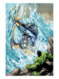 Incredible Hulks No.621: Poseidon Facing Hulk with his Enchanted Trident Posters by Paul Pelletier
