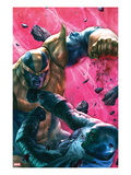 The Thanos Imperative 4 Cover: Drax and Thanos Fighting Prints by Aleksi Briclot