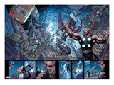 Ultimate New Ultimates 5: Panels with Thor Holding Mjonir, Screaming in a Storm Poster by Frank Cho