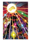 Avengers No.10 Cover: The Hood Standing with the Infinity Gauntlet Art by John Romita Jr.