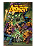 New Avengers 16.1 Cover: Green Goblin, Luke Cage, Thing, Spider-Man, Norman Osborn, and Others Posters by Neal Adams