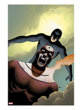 Shadowland 4 Cover: Bullseye and Daredevil Flying Prints by John Cassaday