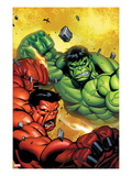 Hulk No.29 Cover: Hulk and Rulk Fighting Prints by Ed McGuinness