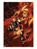 New Mutants No.40 Cover: Warlock and Cypher Fighting Prints by Kris Anka