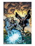 Fear Itself: The Fearless #9 Cover: Storm and Moonstar Posters por Arthur Adams