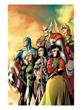 I Am an Avenger 5 Cover: Ant-Man, Vision, Hawkeye, Wiccan, Speed, Captain America and Others Print by Alan Davis