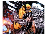 Avengers: X-Sanction No.4: Hope Summers, Spider-Man, Wolverine, and Cable Fighting Prints by Ed McGuinness