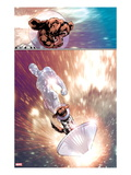 The Thanos Imperative: Devestation No.1: Silver Surfer and Cosmo Riding the Silver Surf Board Prints by Miguel Angel Sepulveda