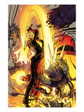 Ghost Rider No.9 Cover: Ghost Rider Fighting Prints by  Blankas