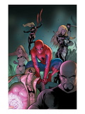 The Amazing Spider-Man 653 Cover: Spider-Man, Luke Cage, Iron Fist, Ms. Marvel and Others Prints by Stefano Caselli