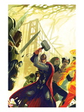 Exiled No.1 Cover: Thor, X-Man, and Loki Art by Stephanie Hans