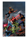 X-Men Forever 2 No.8 Cover: Cyclops, Rogue, and Sabretooth Fighting Print by Tom Grummett