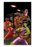 She-Hulks No.2 Cover: She-Hulk and Lyra Fighting Posters by Ed McGuinness
