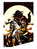 Power Man and Iron Fist No.2 Cover: Power Man and Iron Fist Crouching Print by Mike Perkins