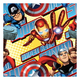 Marvel Super Hero Squad: Thor, Iron Man, and Captain America Flying Prints