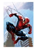 Ultimate Spider-Man 156 Cover: Spider-Man Jumping Poster by Mark Bagley
