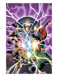 Avengers &amp; The Infinity Gauntlet 1 Cover: Ms. Marvel, Hulk, Wolverine, Spider-Man, and Thanos Posters by Humberto Ramos